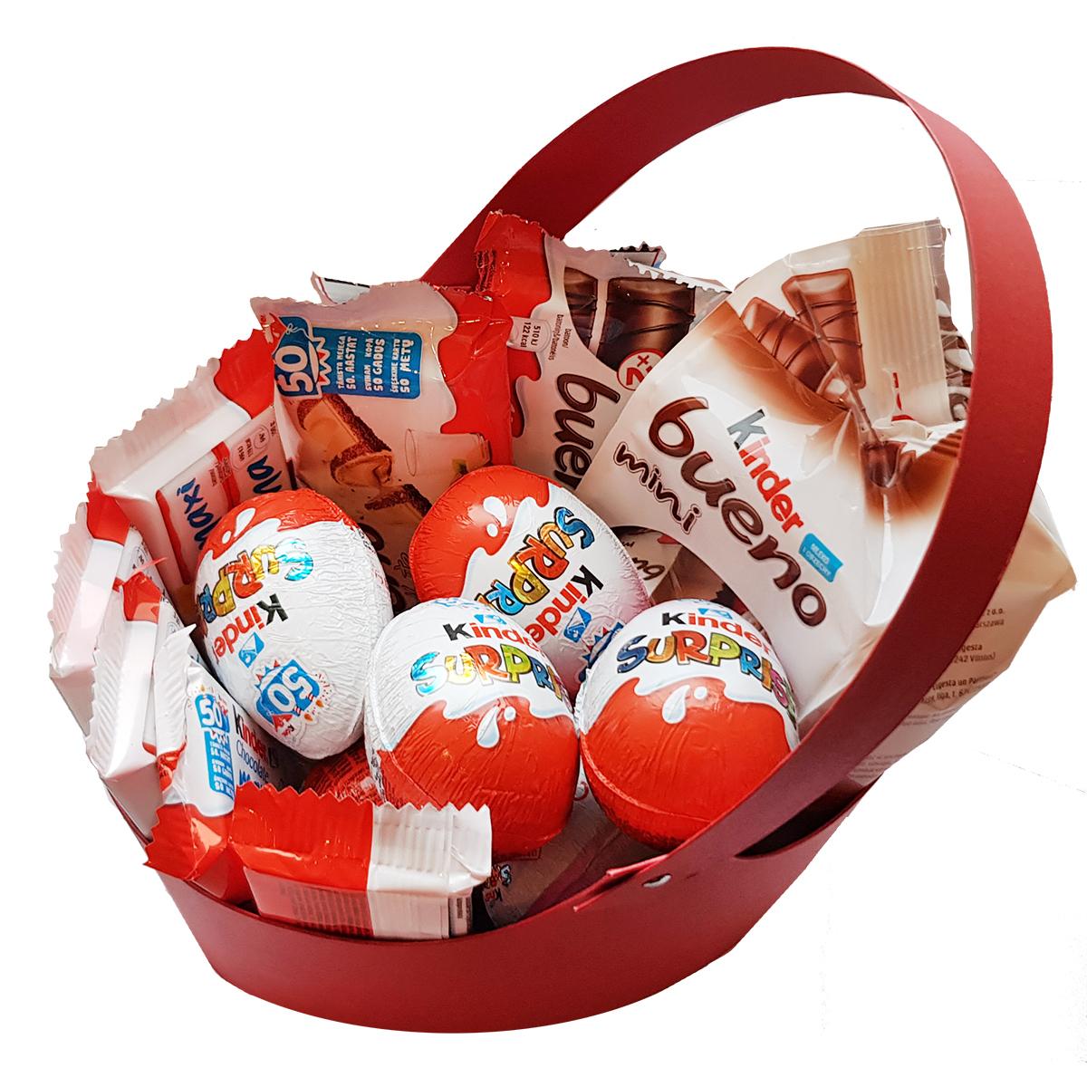 Valgomos puokštės - Kinder kiaušiniai