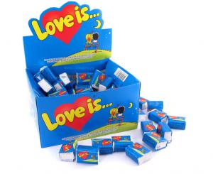 Kramtoma guma Love is braškių ir bananų skonio 100 vnt - Gėlių pristatymas į namus Marijampolėje