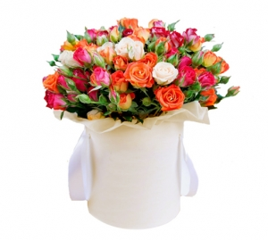 """Rožės dėžutėje """"Mix"""" - Gėlių pristatymas į namus Alytuje"""