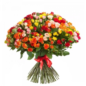 Smulkiažiedės rožės mix - Gėlių pristatymas į namus Klaipėdoje