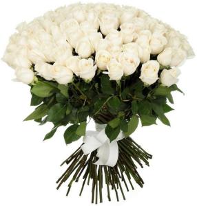 Baltas sapnas (51 arba 101 rožė) - Gėlių pristatymas į namus Vilniuje