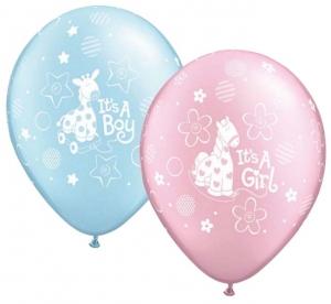 Vaiko gimimo balionas su helio - Gėlių pristatymas į namus Klaipėdoje