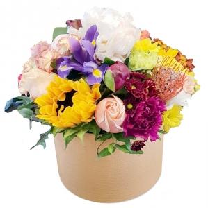 Gelių dėžutė Mix - Gėlių pristatymas į namus Šiauliuose