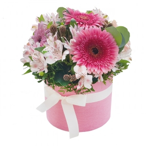 Gėlių dėžutė Smagumėlis - Gėlių pristatymas į namus Vilniuje