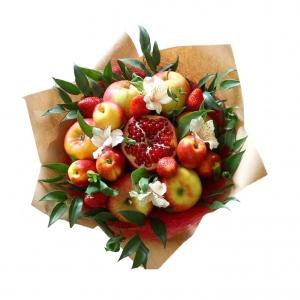 Valgoma puokštė Granato žvilgsnis - Gėlių pristatymas į namus Vilniuje
