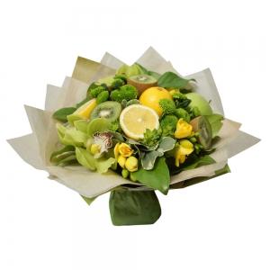 Valgoma puokštė Kivių kokteilis - Gėlių pristatymas į namus Vilniuje