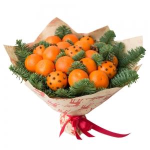 Valgoma puokštė Kalėdų kvapas - Gėlių pristatymas į namus Vilniuje