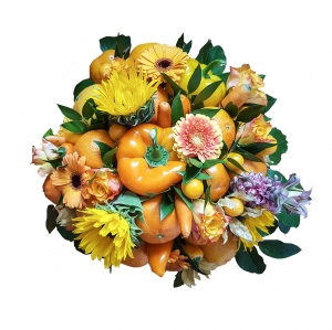 Valgoma puokštė Rudens fantazija - Gėlių pristatymas į namus Šiauliuose
