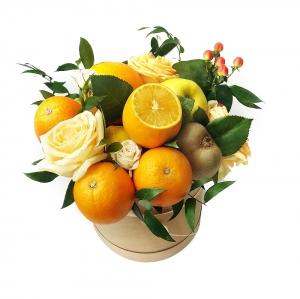 Valgoma puokštė Gaivumas - Gėlių fėja - Gėlių pristatymas į namus