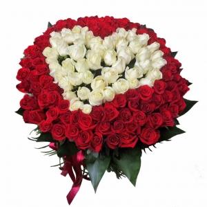 Rožių širdis - Gėlių fėja - Gėlių pristatymas į namus