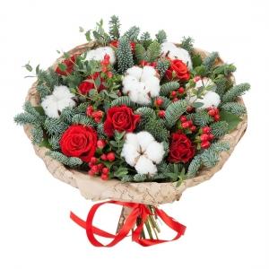 Puokstė Kalėdos - Gėlės į namus Vilniuje