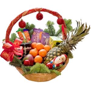 Kalėdų skanumynų krepšys - Gėlių pristatymas į namus Ukmergėje