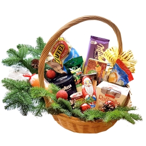 Kalėdų krepšys Mix - Gėlės į namus Vilniuje