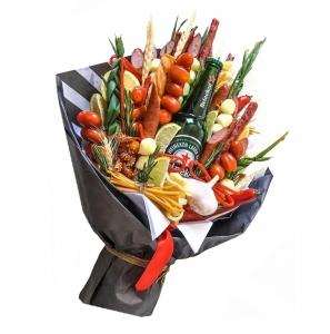 Valgoma puokštė Vyrams 4 - Gėlių pristatymas į namus Ukmergėje