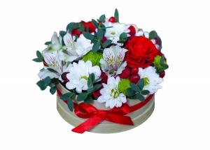 Ramus vakaras (Alstromerijos, rožės) - Gėlių pristatymas į namus Vilniuje