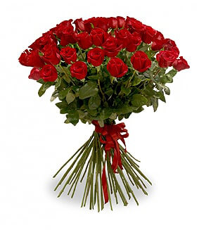 5 žvaigždučių rožės PREMIUM 80-90cm - Gėlių fėja - Gėlių pristatymas į namus