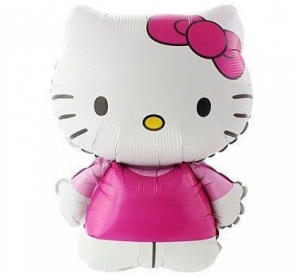 Hello Kitty, Balionas su heliu - Gėlių pristatymas į namus Palangoje