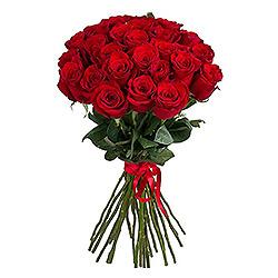 Klasika - Raudonos rožės 60-70cm - Gėlių fėja - Gėlių pristatymas į namus