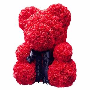 Kvepiantis meškiukas Rose Bear, raudonas - Gėlės į namus Vilniuje
