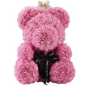 Kvepiantis meškiukas Rose Bear, rožinis - Gėlės į namus Vilniuje