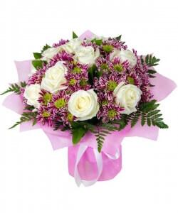 Laimės puokštė - Gėlių pristatymas į namus Klaipėdoje