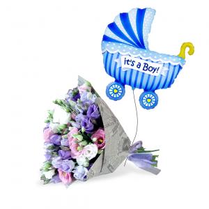 Naujagimio rinkinys 1 (Berniukas) - Gėlių pristatymas į namus Tauragėje