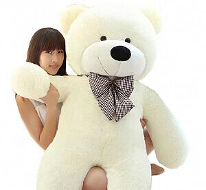 Pliušinis meškinas Tedis, baltas