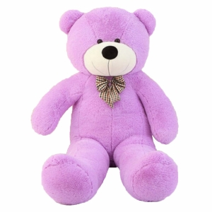 Pliušinis meškinas Tedis, violetinis - Gėlių pristatymas į namus Klaipėdoje