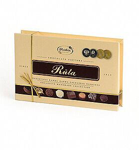 Rankų darbo šokoladinių saldainių rinkinys RŪTA, 170 g - Gėlių pristatymas į namus Vilniuje