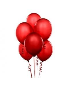 Raudoni balionai su heliu 5 vnt. - Gėlės į namus Vilniuje