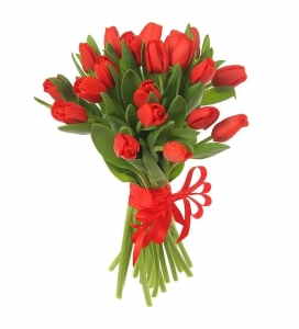 Raudonos tulpės - Gėlės į namus Vilniuje