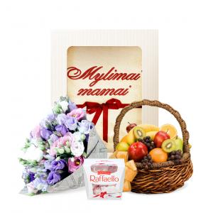 Rinkinukas mamai MIX - Gėlių pristatymas į namus Klaipėdoje