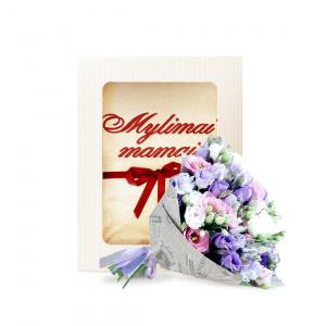 Rinkinukas mamai (rankšluostis ir eustomos mix) - Gėlių fėja - Gėlių pristatymas į namus