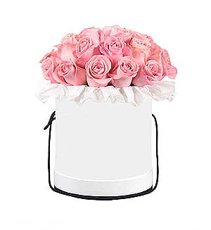 Rožės baltoje dėžutėje - Gėlės į namus Vilniuje