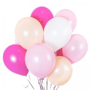 Rožiniai helio balionai, 11vnt - Gėlių pristatymas į namus Klaipėdoje