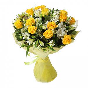 Saulės sveikinimas - Gėlės į namus Vilniuje