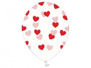 Skaidrus balionas su heliu, Hearts - Gėlių pristatymas į namus Palangoje