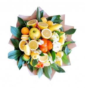 Valgoma puokštė Multivitamino skonis - Gėlių pristatymas į namus Šiauliuose