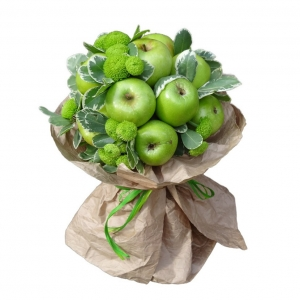Valgoma puokštė Rojaus obuoliukai - Gėlių pristatymas į namus Vilniuje