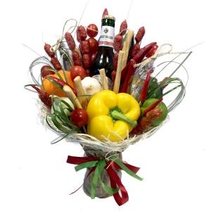 Valgoma puokštė Vyrams 5 - Gėlių pristatymas į namus Ukmergėje